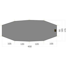 Tatonka LT Rokua 3 Floor Sheet 450x90/175cm, stone grey olive
